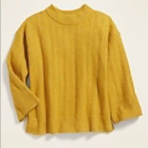 New w/Tags -Old Navy Girls Mustard Yellow Sweater